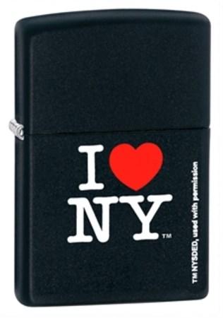 Широкая зажигалка Zippo I Love NY 24798 - фото 4594