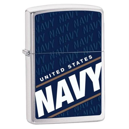 Широкая зажигалка Zippo Us Navy 24813 - фото 4597