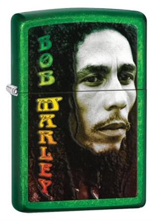 Широкая зажигалка Zippo Bob Marley 28256 - фото 4648