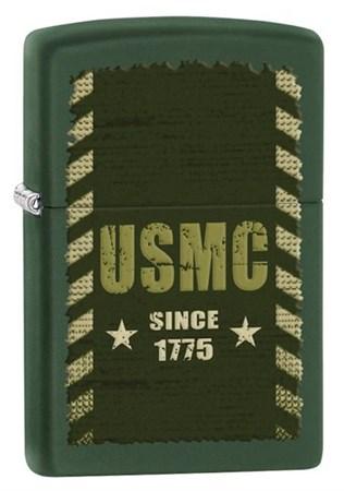 Широкая зажигалка Zippo Marines 28337 - фото 4680