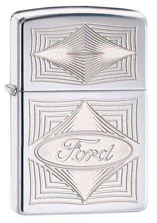 Широкая зажигалка Zippo Ford Diamonds 28625 - фото 4736