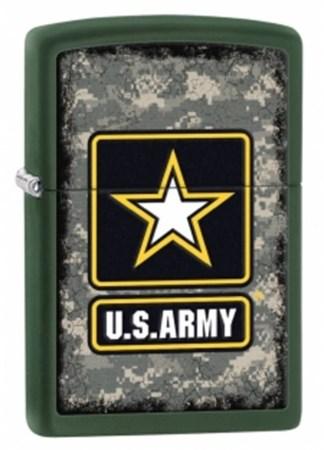 Широкая зажигалка Zippo U.S. Army 28631 - фото 4739
