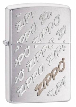 Широкая зажигалка Zippo Repeating Logo 28642 - фото 4743