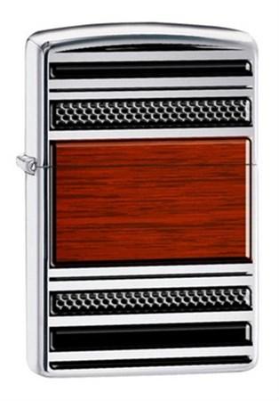 Широкая зажигалка Zippo Pipe Steel and Wood 28676 - фото 4751