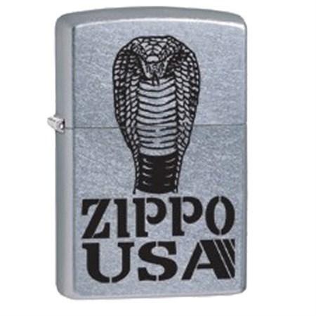 Широкая зажигалка Zippo Cobra 28776 - фото 4760