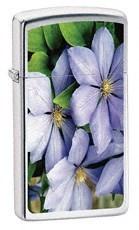 Узкая зажигалка Zippo Purple Petals 24525 - фото 4781
