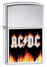 Широкая зажигалка Zippo ACDC Flames 24277 - фото 4815