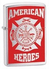Широкая зажигалка Zippo American Hero Firefighter 24354 - фото 4819