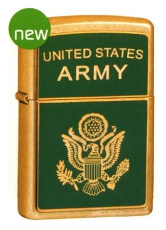 Широкая зажигалка Zippo United States Army 20878 - фото 4821