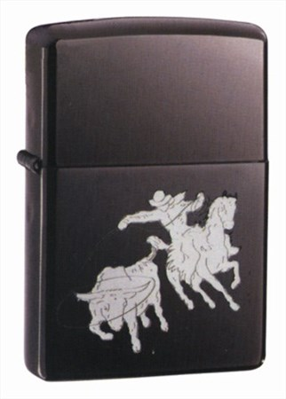 Широкая зажигалка Zippo Bull Roping 20848 - фото 4832