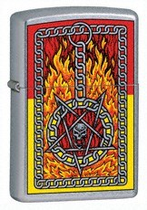 Широкая зажигалка Zippo Burning Chains 24265 - фото 4833