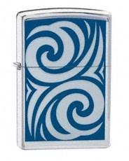 Широкая зажигалка Zippo Cobalt Curl 24006 - фото 4860