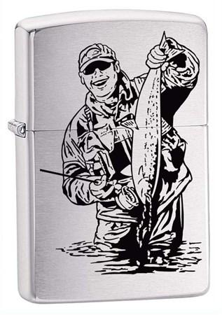 Широкая зажигалка Zippo Fisherman 200FISHERMAN - фото 4878