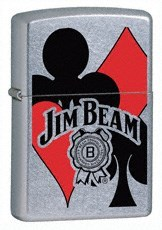 Широкая зажигалка Zippo Jim Beam Cards 24054 - фото 4910