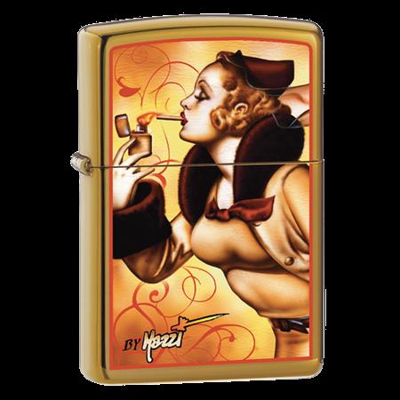 Широкая зажигалка Zippo Mazzi Zippo Windy 24745 - фото 4921