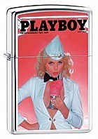Широкая зажигалка Zippo Playboy 20951 - фото 4937