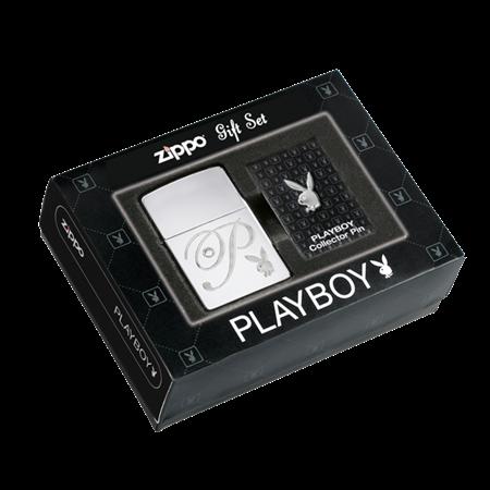 Подарочный набор Zippo зажигалка + значок Playboy 24778 - фото 4940