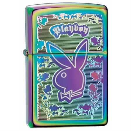 Широкая зажигалка Zippo Playboy spectrum 24447 - фото 4941