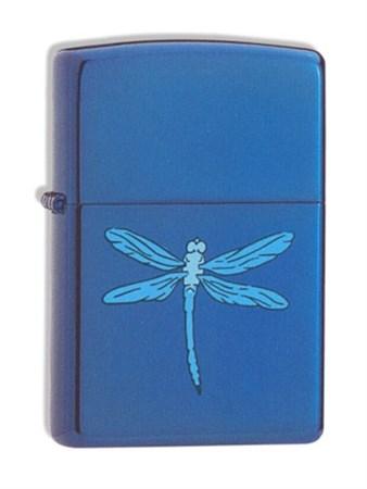 Широкая зажигалка Zippo Sapphire Dragonfly 21041 - фото 4955