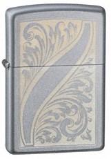 Широкая зажигалка Zippo Scrolled Feather 21139 - фото 4957