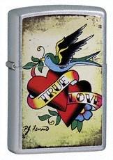 Широкая зажигалка Zippo True love 24557 - фото 4972