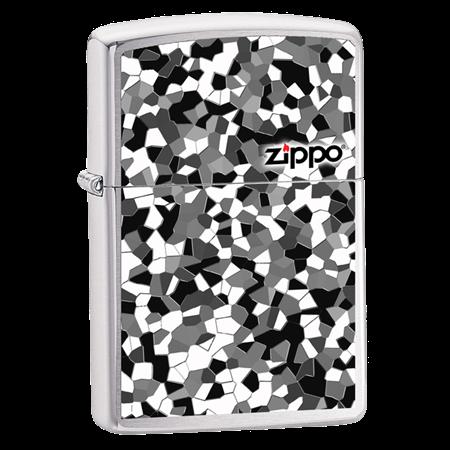 Широкая зажигалка Zippo Broken Glass 24807 - фото 4990