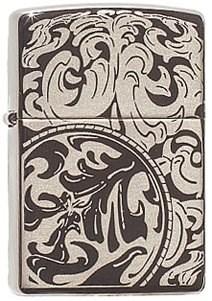 Широкая зажигалка Zippo Magnifying Scrolls 150 - фото 5013