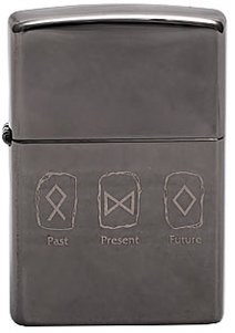 Широкая зажигалка Zippo Past,Present,Future 150 - фото 5015