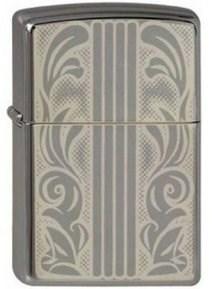 Широкая зажигалка Zippo Scrolls & Bars 150 - фото 5017