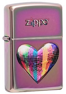 Широкая зажигалка Zippo Mosaic Heart 151 - фото 5035