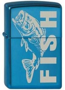 Широкая зажигалка Zippo Fish 20446 - фото 5057