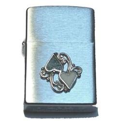 Широкая зажигалка Zippo Hearts 20515 - фото 5063