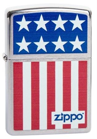 Широкая зажигалка Zippo Flag 200 - фото 5105