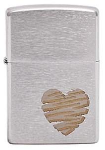 Широкая зажигалка Zippo Heart Design 200 - фото 5111