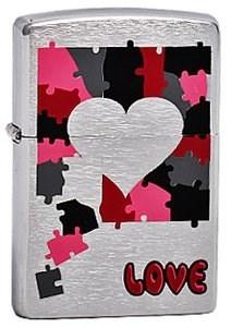 Широкая зажигалка Zippo Love Puzzle 200 - фото 5129