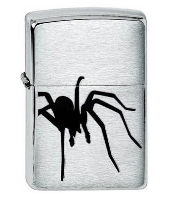 Широкая зажигалка Zippo Spider Black 200 - фото 5147