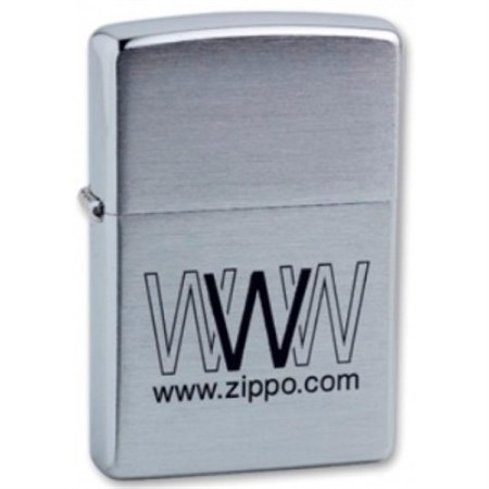 Широкая зажигалка Zippo WWW Zippo 200 - фото 5159