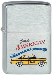 Широкая зажигалка Zippo Yellow Car 200 - фото 5161