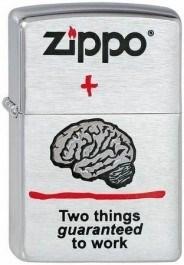 Широкая зажигалка Zippo Zippo & Brain 200 - фото 5167