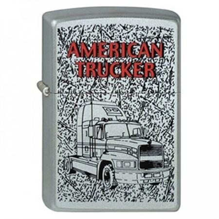 Широкая зажигалка Zippo American Trucker 2 205 - фото 5225