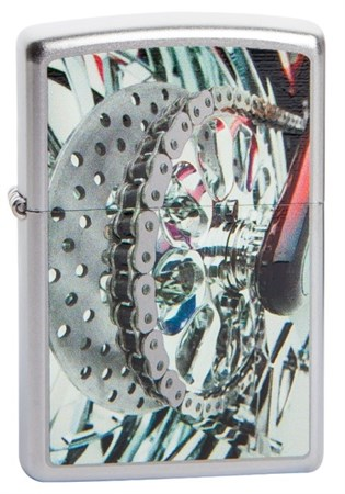 Широкая зажигалка Zippo Bike chain 205 - фото 5231