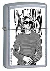 Широкая зажигалка Zippo Kurt Cobain 205 - фото 5257