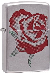 Широкая зажигалка Zippo Large Rose 205 - фото 5261