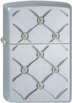 Широкая зажигалка Zippo Metal dots 205 - фото 5274