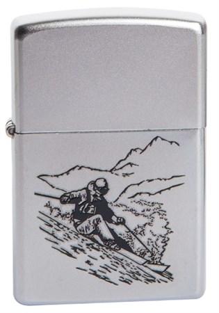 Широкая зажигалка Zippo Skier 205 - фото 5294