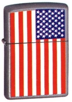 Широкая зажигалка Zippo USA flag 205 - фото 5312