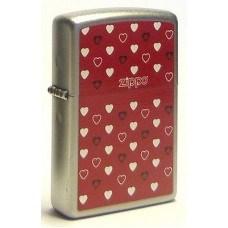 Широкая зажигалка Zippo Zippo Hearts 205 - фото 5318
