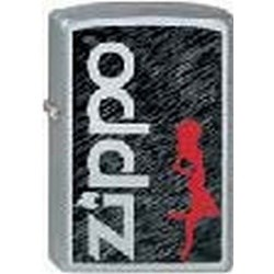 Широкая зажигалка Zippo Zippo Hottie 205 - фото 5320