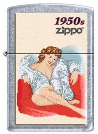Широкая зажигалка Zippo Pin Up 1950 224 - фото 5356
