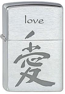 Широкая зажигалка Zippo Signs Love 228 - фото 5364